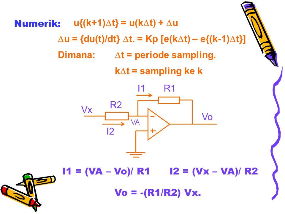 u = {du(t)/dt} t. = Kp [e(kt) – e{(k-1)t}]